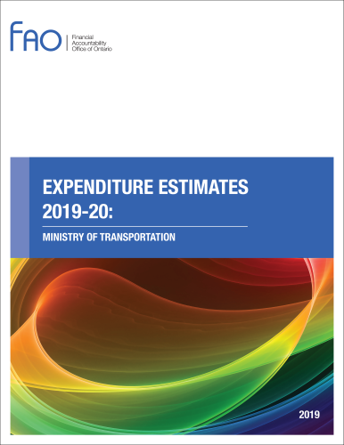 Expenditure Estimates: Ministry of Transportation